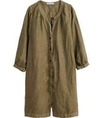 linen playsuit in olive