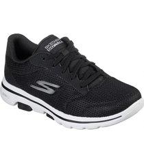 zapatos mujer  go walk 5 -lucky negro skechers