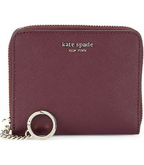 kate spade new york women's small slim continental wallet - cherry wood