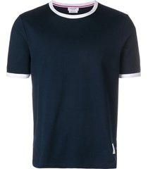thom browne ringer slim-fit t-shirt - blue