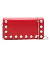 miu miu bolsa tiracolo com tachas - vermelho