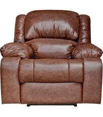 poltrona do papai reclinável elétrica com massagem e usb magnum couro marrom - gran belo