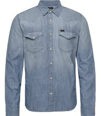 lee western shirt skjorta casual blå lee jeans