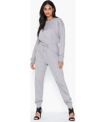 missguided drop shoulder draw string jumpsuit jumpsuits