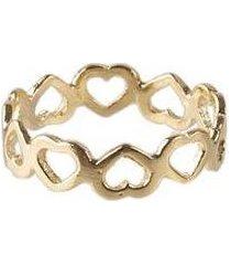 anel de falange folheado heart - feminino
