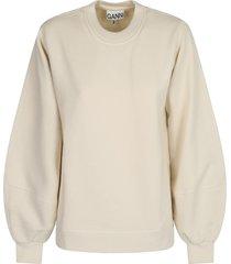 ganni relaxed fit sweatshirt