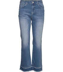 kelsey kick jeans jeans wijde pijpen blauw mos mosh