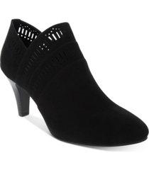 karen scott marius perforated dress booties, created for macy's women's shoes