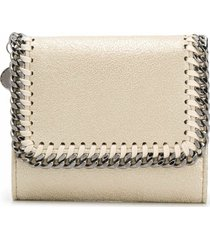 stella mccartney continental small flap wallet lurex