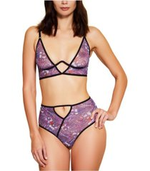 hauty printed mesh high waist underwear, online only