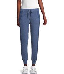 michael stars women's drawstring jogger pants - heather marine - size xl