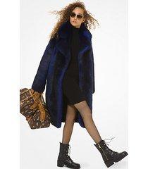 mk cappotto in pelliccia sintetica - twilight blue - michael kors