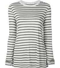 alexanderwang.t horizontal striped t-shirt - grey