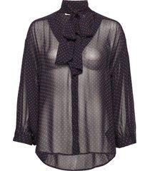 james star blouse blouse lange mouwen zwart hunkydory