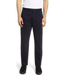 vince structured straight leg track pants, size 34r in coastal at nordstrom