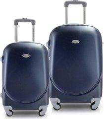 conjunto de mala de viagem 2 peças p e m select jacki design viagem azul marinho