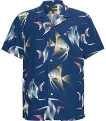 slim soft resort shirt overhemd met korte mouwen blauw banana republic