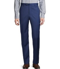 fine check wool dress trousers