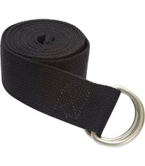 jade yoga d-ring strap 8' black cotton
