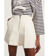tommy hilfiger women's nautical tailored viscose blend shorts snow white - 10