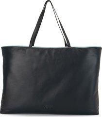 mansur gavriel reversible large pillow tote bag - blue