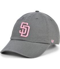 '47 brand san diego padres dark gray pink clean up cap