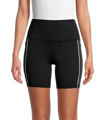 spyder women's high-waist biker shorts - black - size l