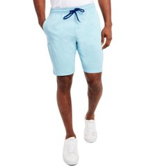 tallia men's slim fit solid drawstring shorts with free matching face mask