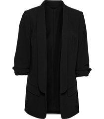 blazer lungo con maniche drappeggiate (nero) - bodyflirt