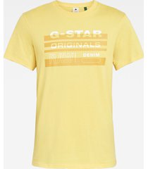 g-star d19268 336 original stripe t-shirt 3749 yellow cab -
