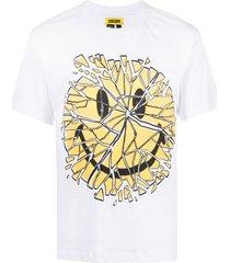 chinatown market glass smiley cotton t-shirt - white