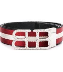 bally striped belt - red