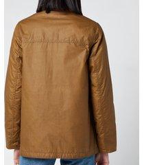 barbour x alexa chung women's christie wax jacket - sand/ancient - uk 12