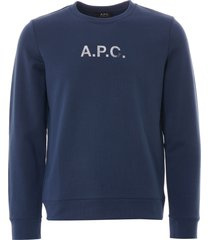 a.p.c. stamp sweatshirt | blue | h27580-iaa