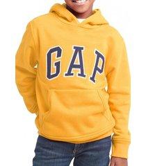 polerón logo con gorro amarillo gap