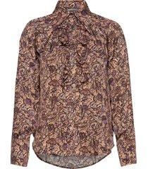tuska satin thorn chemise långärmad skjorta multi/mönstrad zadig & voltaire