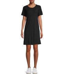 james perse women's t-shirt dress - asphalt - size 3 (l)