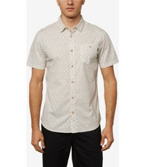 o'neill men's tame short sleeve micro print woven shirt