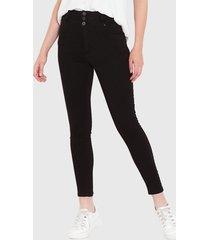 jeans wados pitillo 3 botones negro - calce ajustado