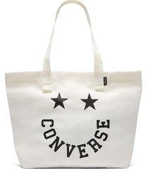 converse bolso tote canvas white