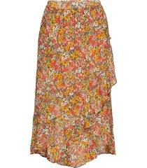 bloom skirt knälång kjol orange second female