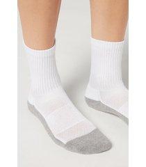 calzedonia unisex sport ankle socks man white size 41-43