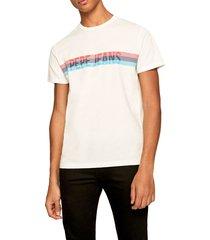 camiseta beige-multicolor pepe jeans