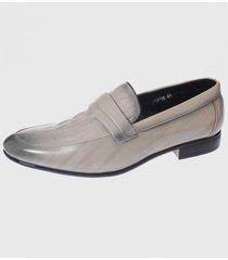 zapato de vestir gris casatia