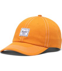 herschel supply co. sylas classic patch baseball cap in ash rose/white at nordstrom