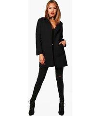 collared coat, black