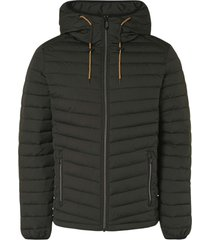 no excess jacket short fit hooded padded moss