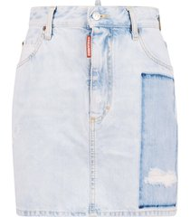 dsquared2 buttoned zip skirt