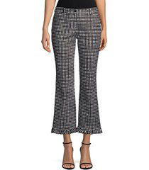 gingham flare pants