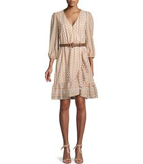 print surplice dress